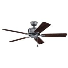 52-Inch 5 Blade  Ceiling Fan Weathered Steel Powder Coat by Kichler Lighting