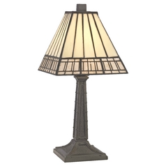 Reed 13-Inch Tiffany Bronze Accent Table Lamp