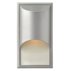 Modern Outdoor Wall Light with Etched in Titanium Finish
