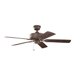 Kichler Lighting Renew Patio Tannery Bronze Powder Coat Ceiling Fan Without Light