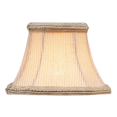 Cream Pinstripe Square Lamp Shade with Clip-On Assembly