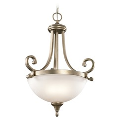 Kichler Lighting Monroe Pendant Light with Bowl / Dome Shade