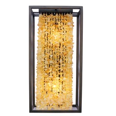 Avenue Lighting Soho Dark Bronze with Natural Citrine Nuggets Sconce