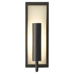 Modern Sconce Wall Light with White Glass in Oil Rubbed Bronze Finish