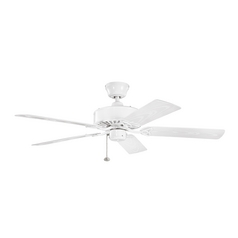 Kichler Lighting Renew Patio White Ceiling Fan Without Light
