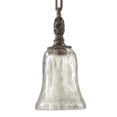 Galeana Mini-Pendant Light with Clear Seedy Glass
