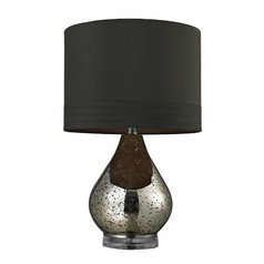 Table Lamp with Mercury Glass and Drum Shade