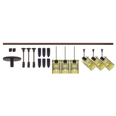 Besa Lighting Scope Bronze LED Rail Kit