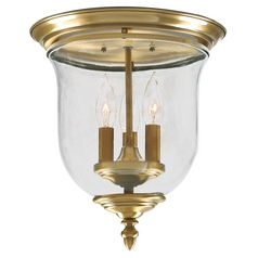 Livex Lighting Legacy Antique Brass Flushmount Light