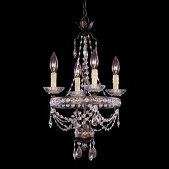Savoy House New Tortoise Shell W/silver Mini-Chandelier