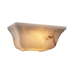 PLC Lighting Modern Sconce with Alabaster Glass in Faux Alabaster Finish 1138