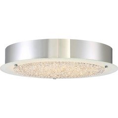 Quoizel Lighting Platinum Blaze Polished Chrome LED Flushmount Light