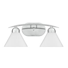 Quoizel Lighting Curved Modern Two-Light Bathroom Vanity Light DI8502CO