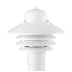 Prismatic Acrylic Post Light White Progress Lighting