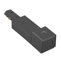 WAC Lighting Black J Track Live End BX Connector