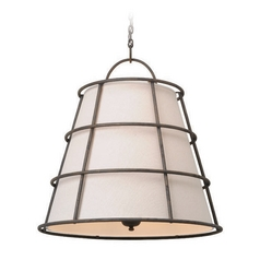 Troy Lighting Habitat Liberty Rust Pendant Light with Empire Shade