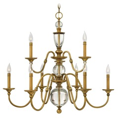 Hinkley Lighting Eleanor Heritage Brass Chandelier