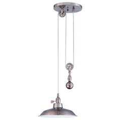 Barn Light Pendant Silver 11.75-inch Wide by Craftmade Lighting