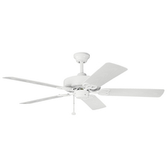 Kichler Lighting Kichler Ceiling Fan Without Light in White Finish 339520WH