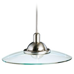 Kichler Lighting Kichler Pendant with Glass Saucer Shade 2640NI