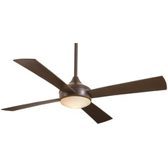 Minka Aire Aluma Oil-Rubbed Bronze Outdoor Ceiling Fan with Light