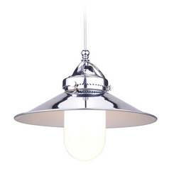 WAC Lighting Brushed Nickel LED Mini-Pendant with Coolie Shade