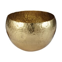 Gold Hammered Brass Dish - Large