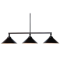 Kenroy Home Conical Oil Rubbed Bronze Island Light with Conical Shade