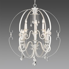 Ella 2 Tier - 9 Light Chandelier in French White