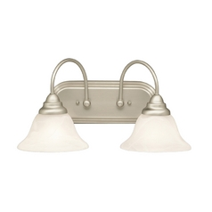 Kichler Lighting Kichler Bathroom Light with Alabaster Glass in Brushed Nickel Finish 5992NI