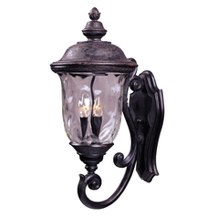Outdoor Wall Light with Clear Glass in Oriental Bronze Finish