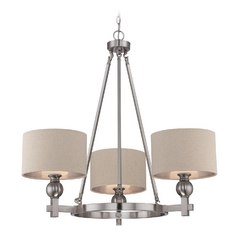 Modern Chandelier in Brushed Nickel Finish