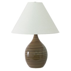 House Of Troy Scatchard Tiger's Eye Table Lamp with Conical Shade