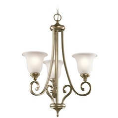 Kichler Monroe 3-Light Chandelier in Sterling Gold
