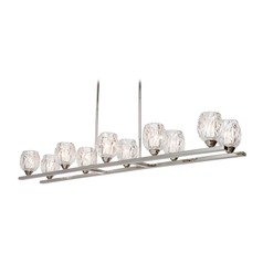 Feiss Lighting Rubin Polished Nickel Island Light with Bowl / Dome Shade
