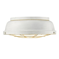 Golden Lighting Bartlett French White Flushmount Light