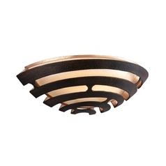 Corbett Lighting Modern LED Sconce Wall Light with Brown Tones Cage Shade in Textured Bronze with Finish 138-11