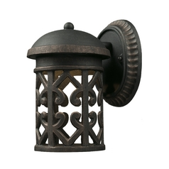 LED Outdoor Wall Light with Clear Glass in Weathered Charcoal Finish