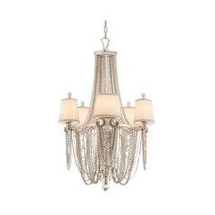 Chandelier Light with Crystal Draped Beaded Jewelry Accents