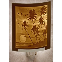 Porcelain Garden Lighting Tropical Sunset Night Light
