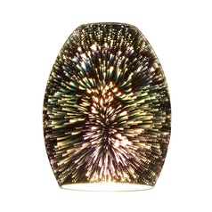 Burst Oblong Art Glass Shade