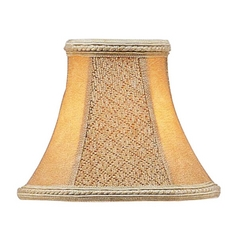 Tan Suede Bell Lamp Shade with Clip-On Assembly