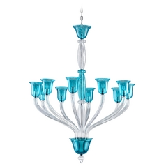 Cyan Design Vetrai Teal & Clear Chandelier