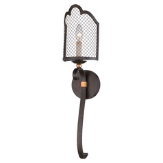 Metropolitan Cortona French Bronze with Gold Highlight Sconce