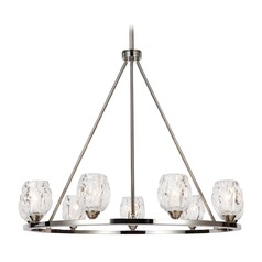 Feiss Lighting Rubin Polished Nickel Chandelier
