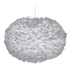 UMAGE White Plug-In Swag Pendant Light with Bowl / Dome Shade