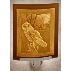 Porcelain Garden Lighting Owl Night Light