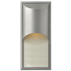 Modern LED Outdoor Wall Light in Titanium Finish