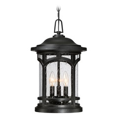 Quoizel Marblehead Mystic Black Outdoor Hanging Light