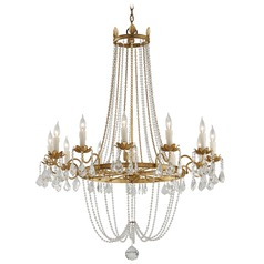 Troy Lighting Viola Distressed Gold Leaf Chandelier